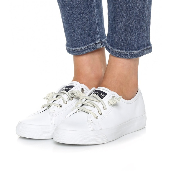 Sperry Seacoast White Leather Sneakers